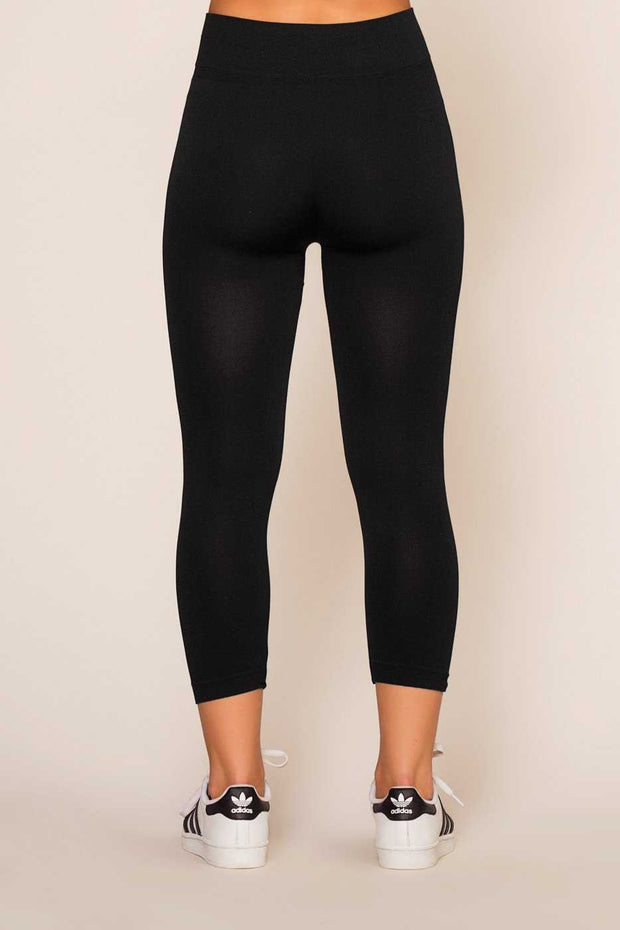 Leggings - Faith Cropped Leggings - Black