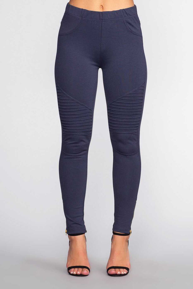 Leggings - Jaxon Moto Jeggings - Navy