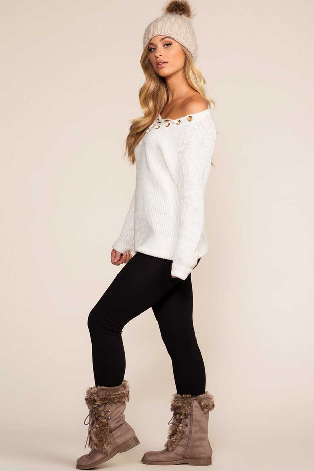 Leggings - Maja Fleece Leggings - Black