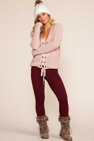 Lena Burgundy Leggings