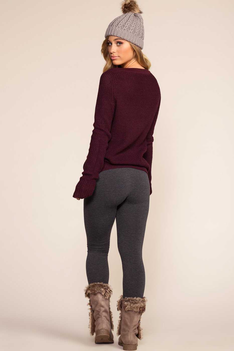Leggings - Maja Fleece Leggings - Charcoal