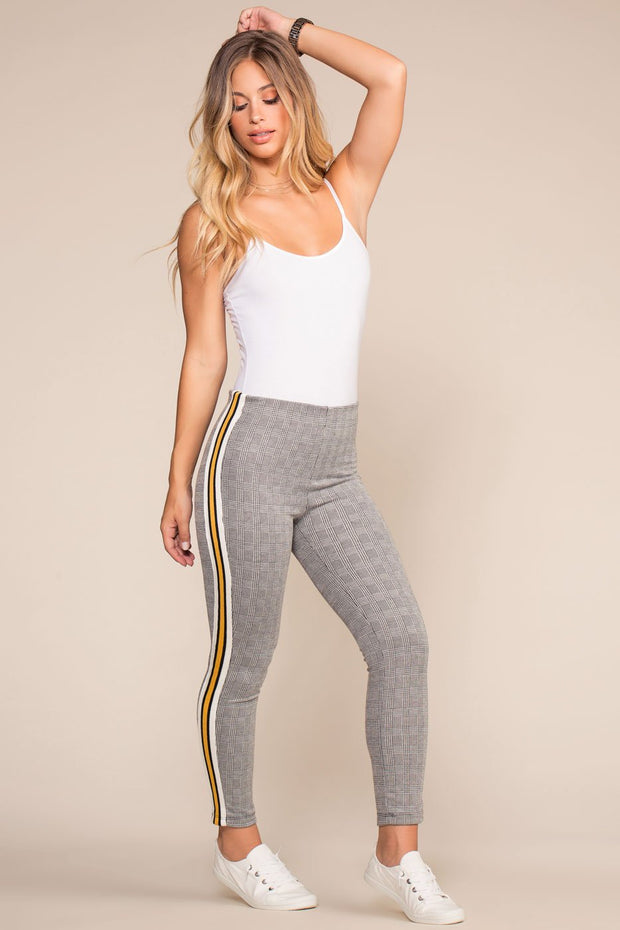 Shop Priceless | Plaid | Highwaisted Jeggings | Mustard | Womens