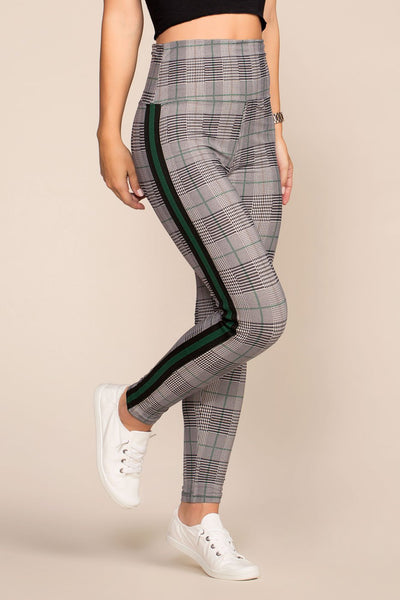 Leggings - Trac Plaid Leggings - Green