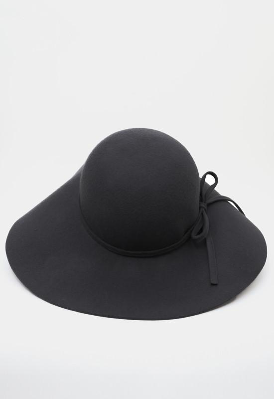 -------- - Lily Wool Hat - Charcoal