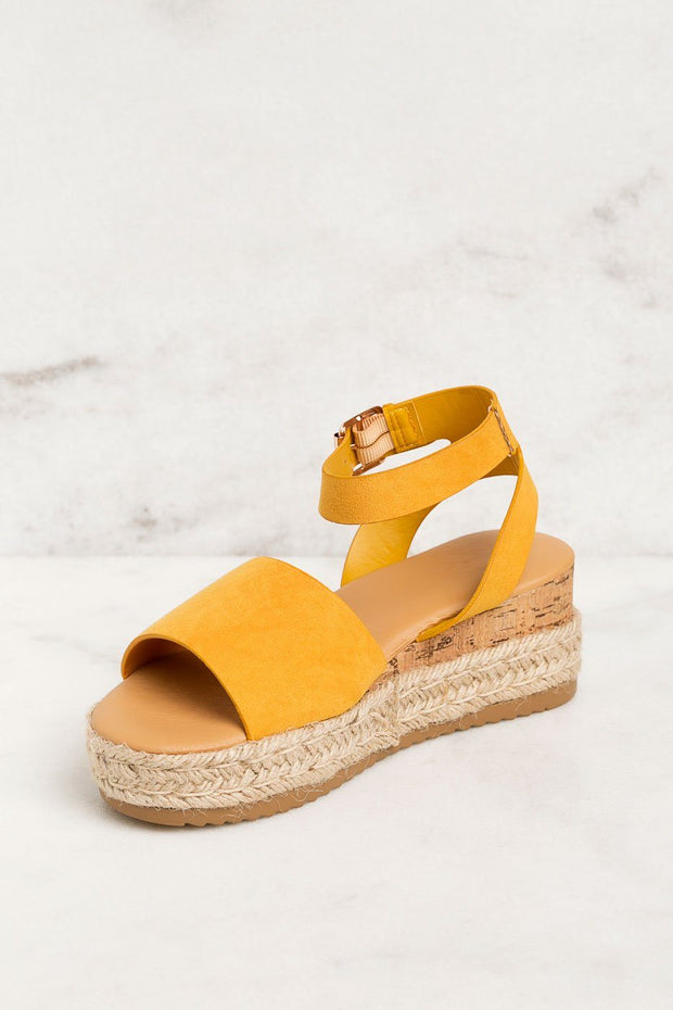 Priceless | Mustard | Platform Sandals | Shoes | Womens
