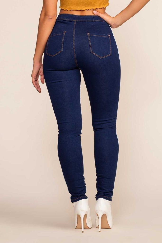 Pants - Bazi Racer High Waisted Jeans