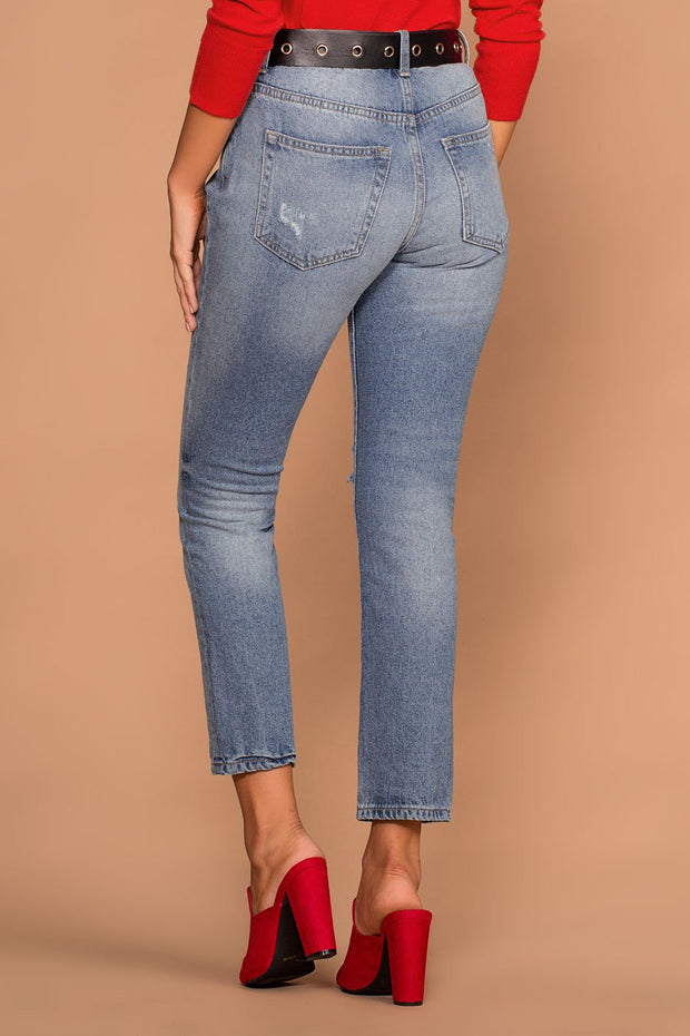 Distressed Medium Wash Denim Jeans