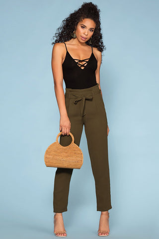 Clyde Highwaisted Olive Cargo Pants
