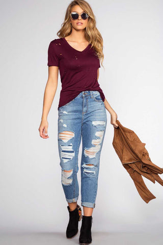 Let You Go High Waisted Jeans - Black