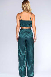 Pants - Emerald Dreams Satin Pants