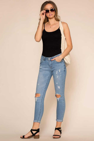 Kensington Frayed Jeans