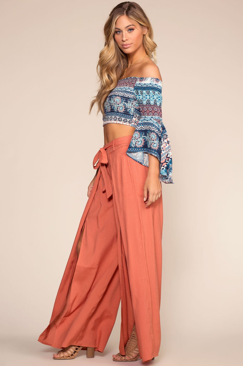 Highwaist Pants Marsala