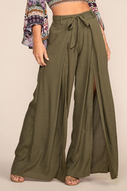 Highwaisted Pants Olive