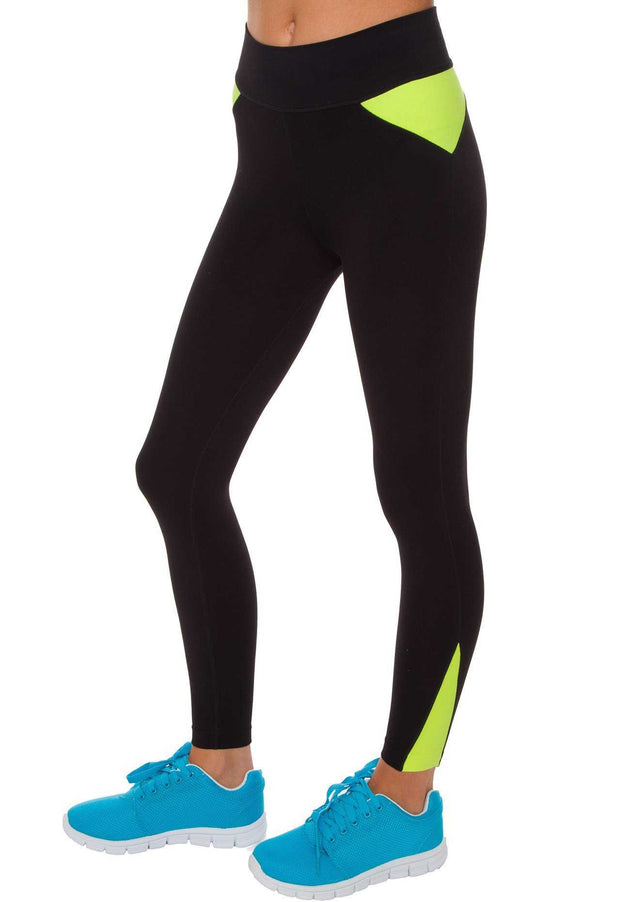 Pants - I Werk Out Pants - Neon Green