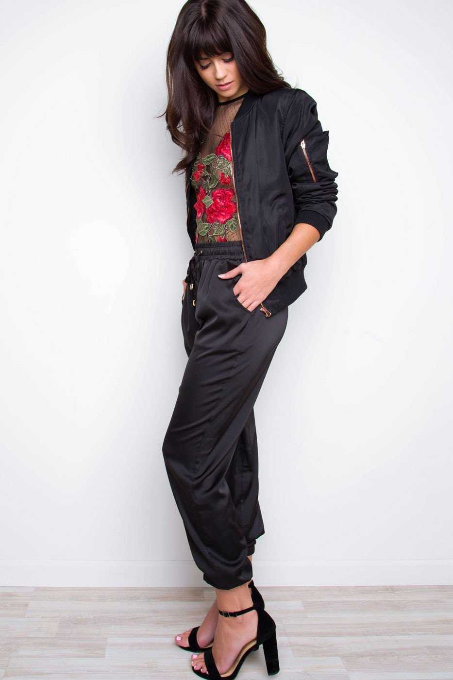Pants - Jada Satin Jogger Pants