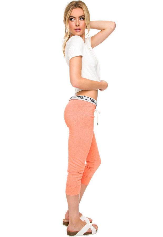 Pants - Love Always Wins Pants - Neon Peach