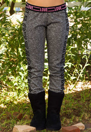 Pants - Love Love Yoga Pants - Charcoal