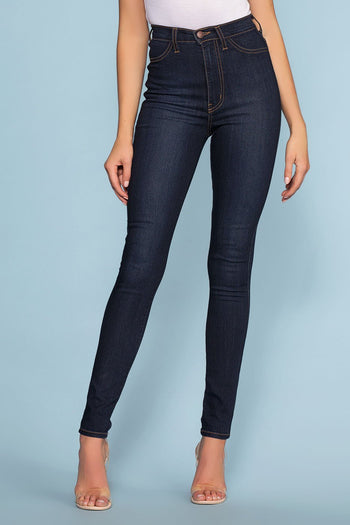 Pants - Mika High Waisted Jeans - Dark Wash