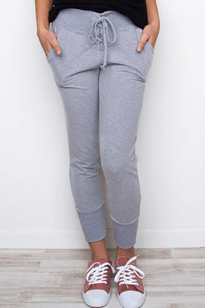 Pants - Next To You Joggers - Gray