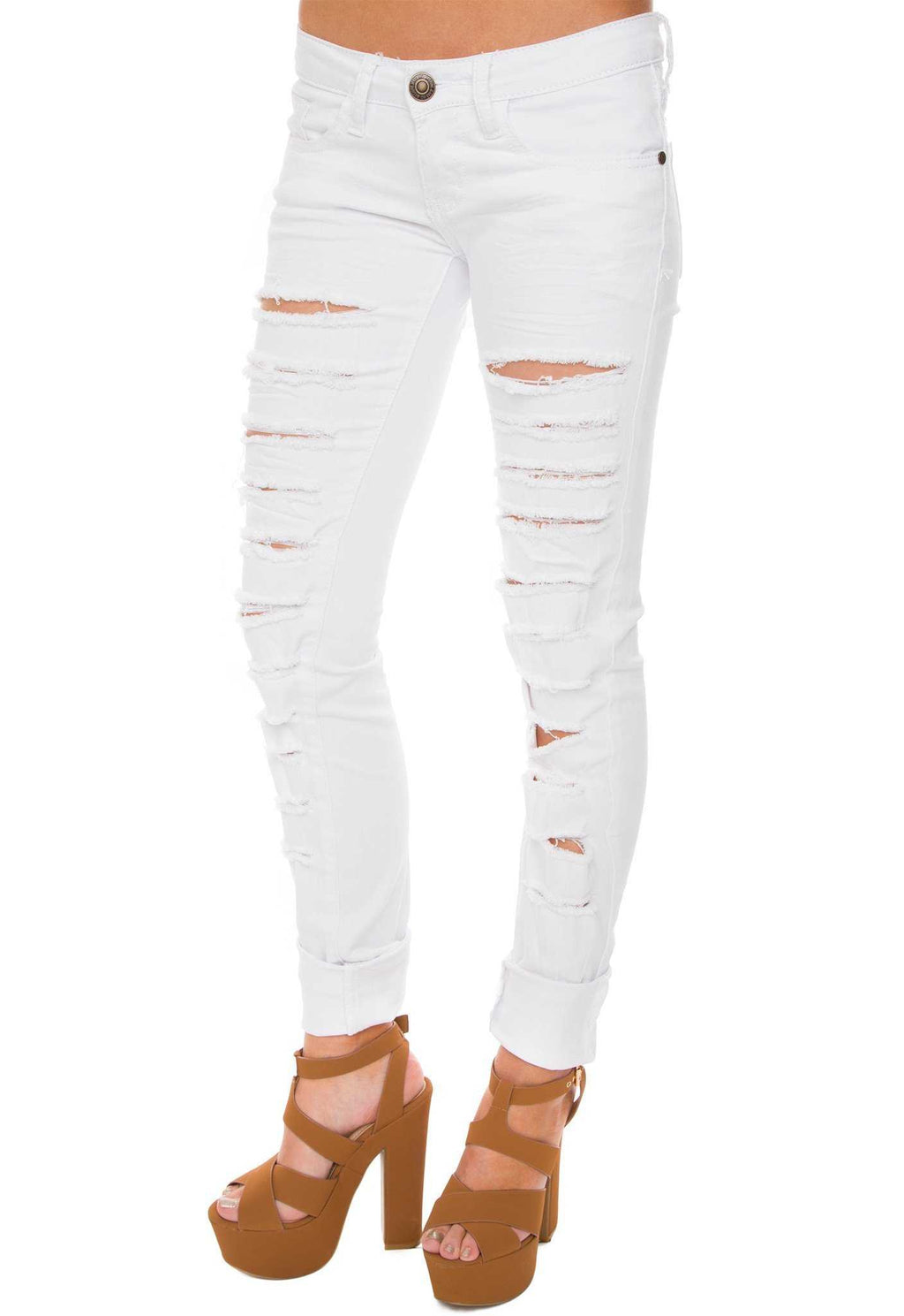 Pants - Nicola Distressed Jeans - White