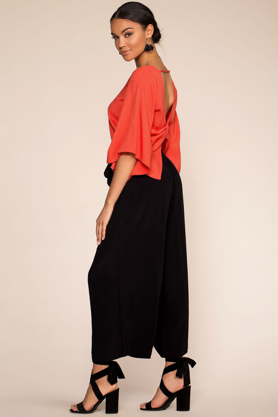 Pants - Park Avenue Wide Leg Culotte Pants