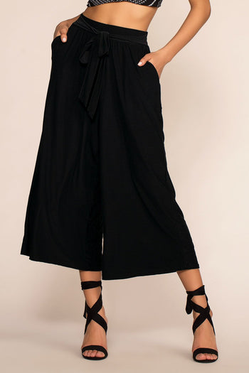Pants - Penny In Your Pocket Culottes - Black