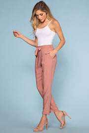 Pants - Sable High Waist Pants - Mauve