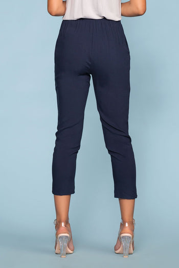 Pants - Sable High Waist Pants - Navy