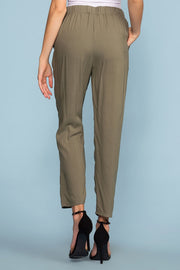 Pants - Sable High Waist Pants - Olive