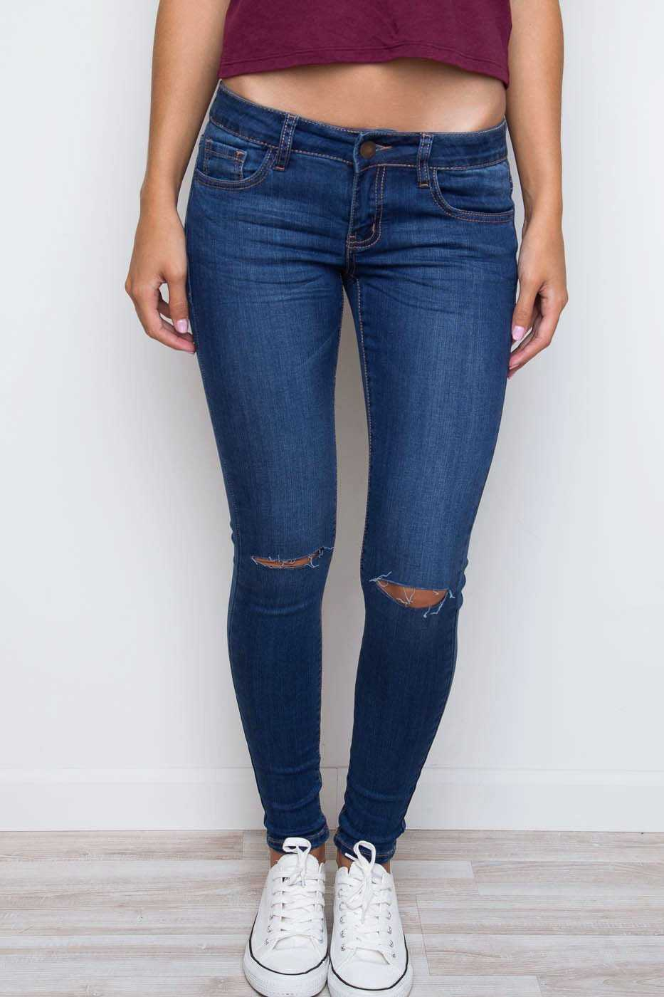 Pants - Second Nature Distressed Skinny Jeans