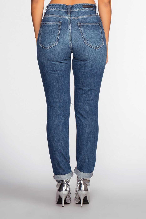 Pants - Tatum Distressed Girlfriend Jeans