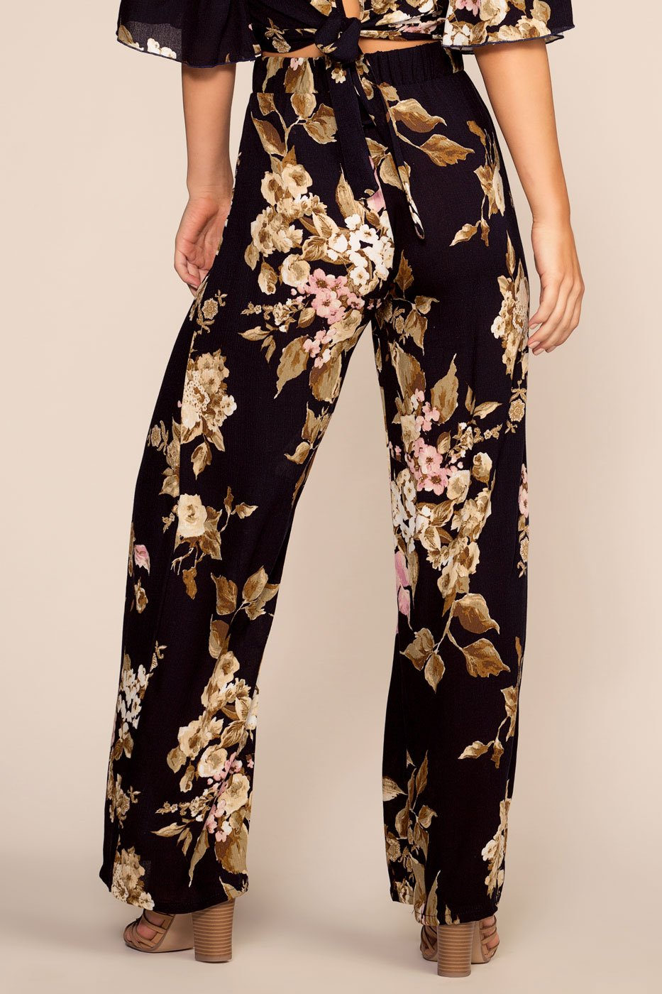 Pants - That's A Wrap Floral High Waisted Pants