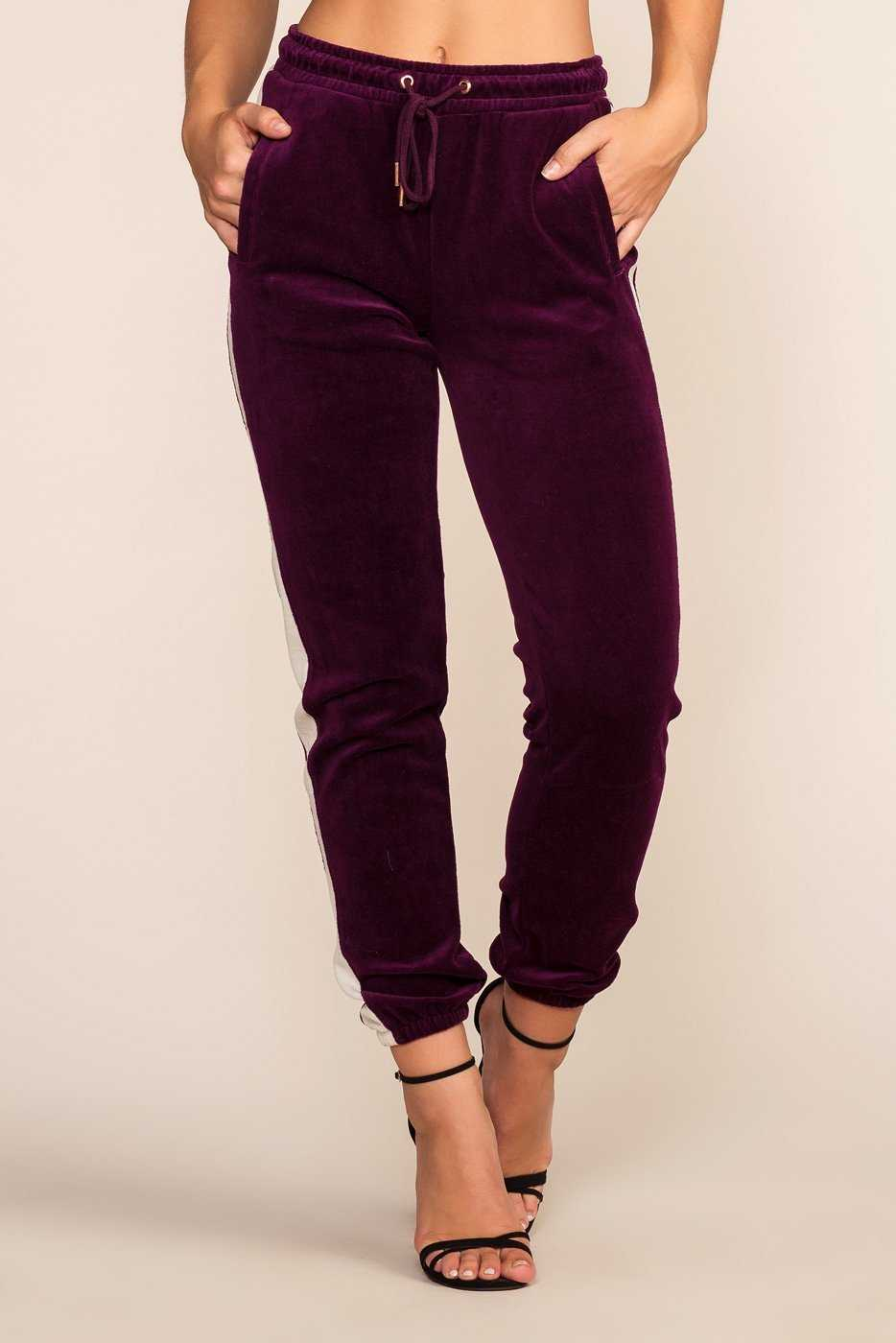 Pants - Track It Joggers - Plum