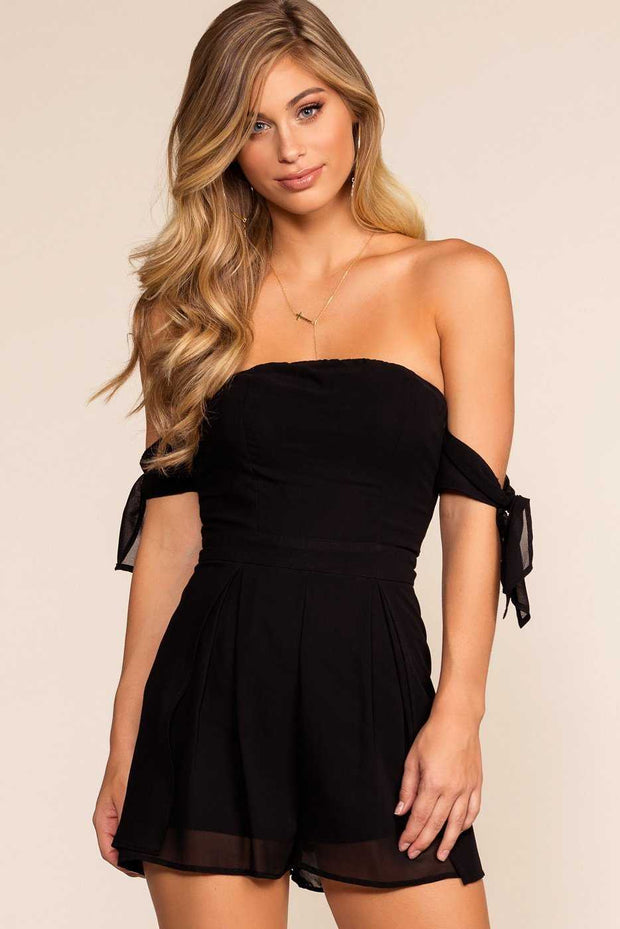 Rompers - Anna Romper - Black