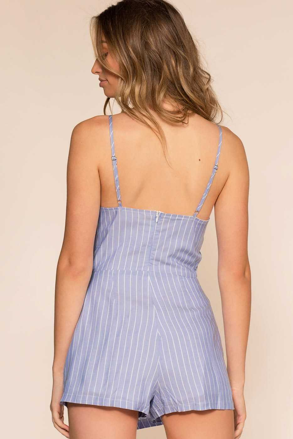 Rompers - Bonita Stripe Romper - Blue