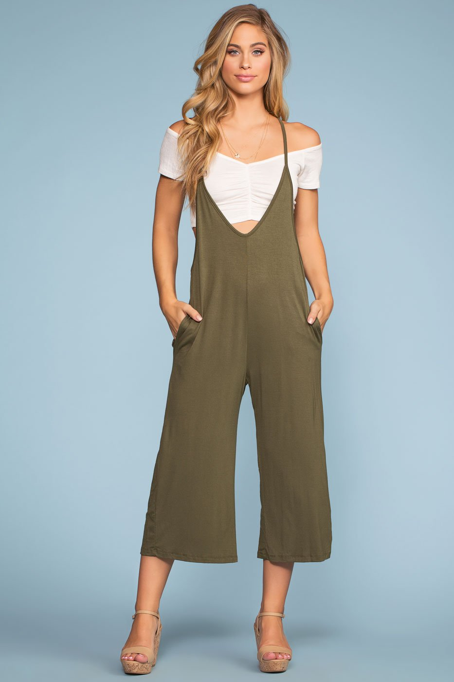 1a06306be1a Day Driftin  Romper - Olive