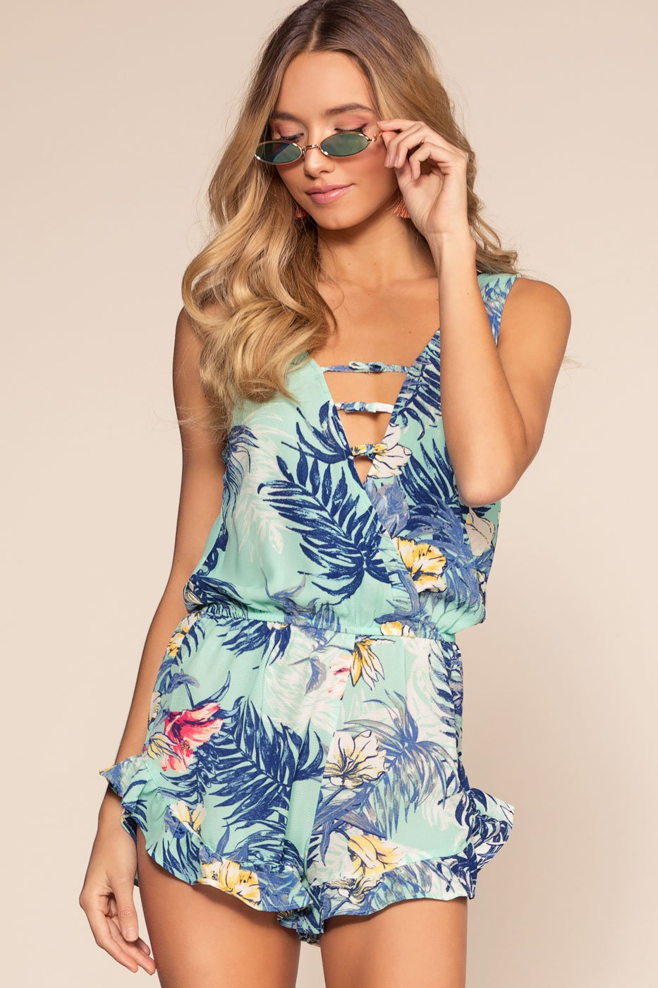 Rompers - Exotic Kiss Romper - Blue
