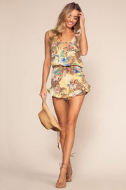 Honey Tropical Print Romper