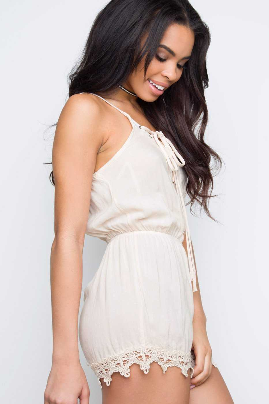 Rompers - Ilana Lace Up Romper
