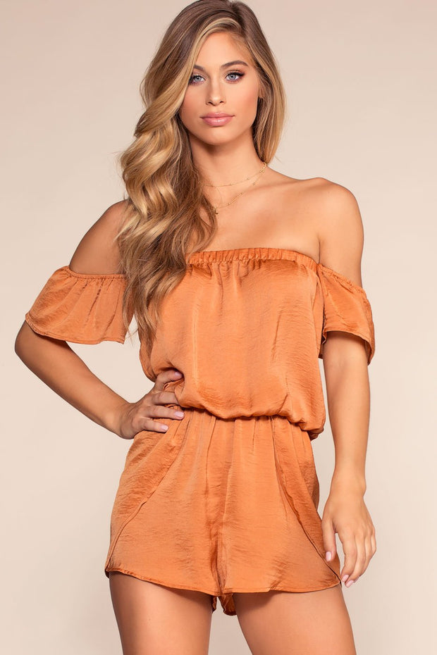 Rompers - Kiss And Tell Off The Shoulder Romper