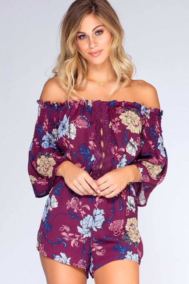 Rompers - Lyrical Floral Romper