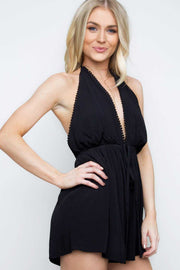 Rompers - Mary Jo Romper - Black