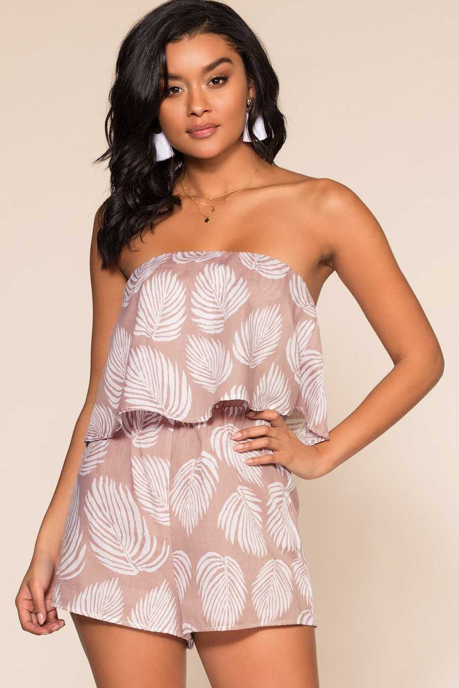 Rompers - Shore Thing Off The Shoulder Romper