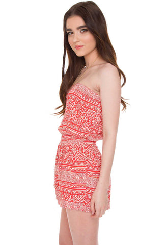 Meredith Bathing Top - Coral