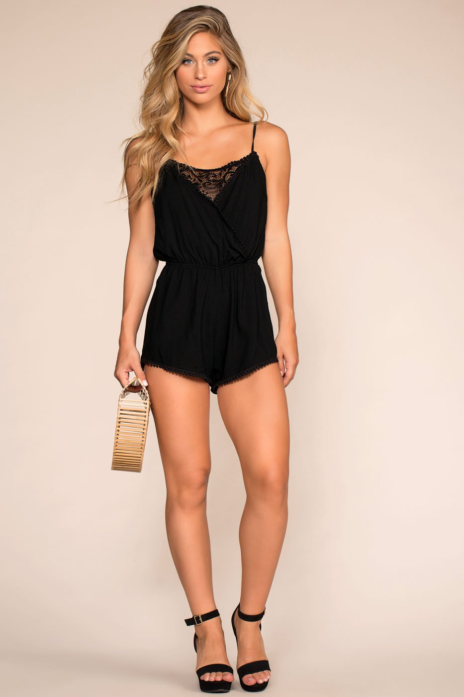 Rompers - Smitten All Day Romper - Black