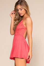 Rompers - Sweet Yuma Romper - Coral