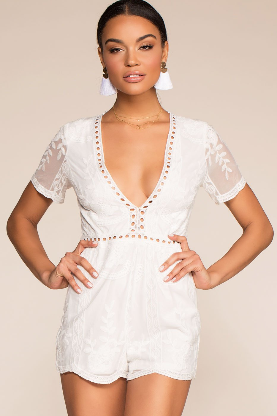 00cb4585d21 ... Rompers - Tea And Biscuit Lace Romper - White ...