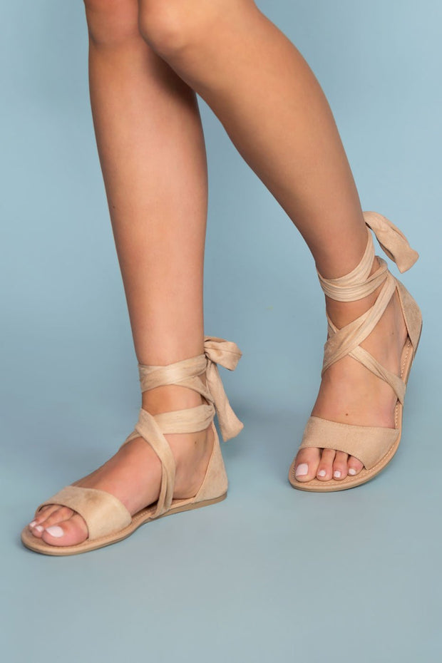 Sandals - Devlyn Wrap Sandals - Natural