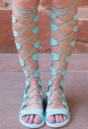 Sandals - Emilia Jelly Gladiator Sandals - Mint
