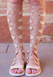 Sandals - Emilia Jelly Gladiator Sandals - Nude